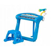 Pian cu microfon BB375A Ecotoys - Albastru