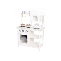 Bucatarie din lemn Ecotoys TK040 white + accesorii bucatarie - Alb