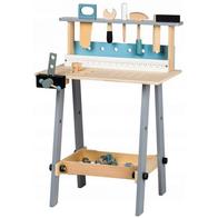 Banc de lucru cu unelte din lemn cu 32 de elemente Ecotoys 1172