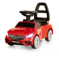 Masinuta de impins cu LED si sunete Mercedes S65 AMG - Rosu