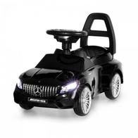 Masinuta de impins cu LED si sunete Mercedes S65 AMG - Negru
