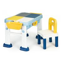 Masuta de joaca 6 in 1 pentru copii cu scaun si tabla Ecotoys HC493113