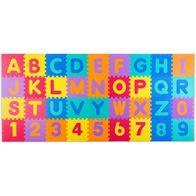 Salteluta de joaca 120 x 270 cm cu litere si cifre Ricokids 7487 - Multicolora