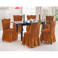 Set 6 huse scaune cu volane din bumbac elasticizat - HH805