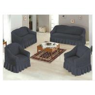 Set 4 huse 3211, pentru canapea 3 locuri, canapea 2 locuri si 2 fotolii Fume - HCL171