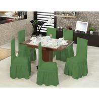 Set 6 huse scaune cu volane din bumbac elasticizat - HH817