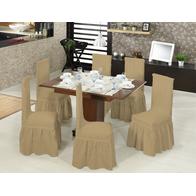 Set 6 huse scaune cu volane din bumbac elasticizat - HH808