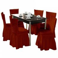 Set 6 huse scaune cu volane din bumbac elasticizat - HH814