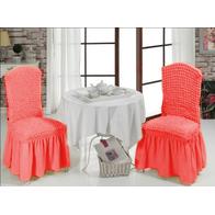 Set 6 huse scaune cu volane din bumbac elasticizat - HH816