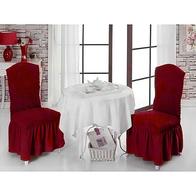 Set 6 huse scaune cu volane din bumbac elasticizat - HCL236