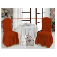 Set 6 huse scaune cu volane din bumbac elasticizat - HCL226