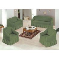 Set huse 3211, pentru canapea  3, 2 locuri si 2 fotolii verde  - D7GXHFBBM