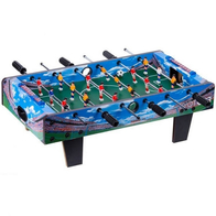 Masa de fotbal din lemn Ecotoys 70 x 36 x 24 cm - Albastru