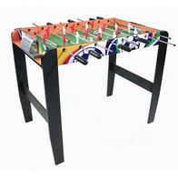 Masa de fotbal din lemn MAJ-039 50 x 93 x 72 cm Ecotoys - Natur cu Wenge