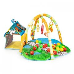 Salteluta de joaca pentru copii cu jucarii, casuta si 30 de bile Ecotoys 518A-13