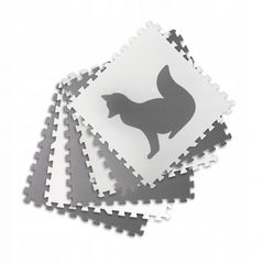 Salteluta de joaca 180 x 120 cm cu animalute 6 bucati Ricokids 7490 - Gri