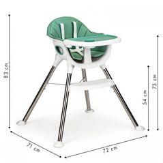 Scaun de masa Ecotoys DBC02 - Verde