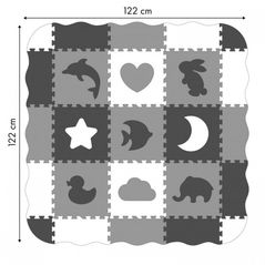 Salteluta de joaca cu pereti, 25 elemente ECOEVA007 - Gri