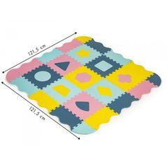 Salteluta de joaca cu pereti, 25 elemente ECOEVA008 - Multicolora