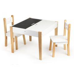 Set de masa cu doua scaune pentru copii Ecotoys OTI43