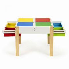Set de masa cu doua scaune pentru copii Ecotoys XKF002