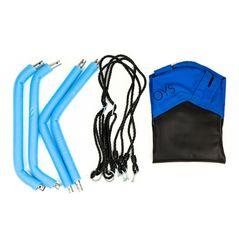 Leagan pentru copii hexagonal, tip cuib de barza, suspendat, Ecotoys MIR6023 - Albastru