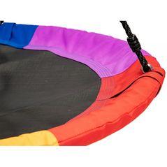 Leagan pentru copii rotund, tip cuib de barza, suspendat, 100 cm, Ecotoys MIR6001 - Multicolor