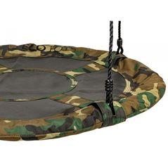 Leagan pentru copii rotund, tip cuib de barza, suspendat, 100 cm, Ecotoys MIR6001 - Camuflaj