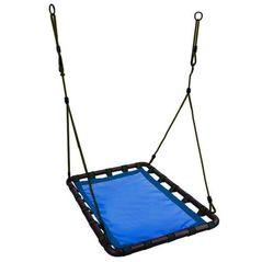 Leagan suspendat tip cuib, dreptunghiular mare, 105 x 75 cm Ecotoys MIS1005 - Albastru
