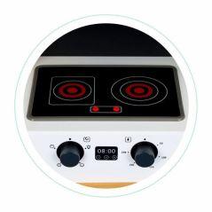 Bucatarie din lemn cu sunete si LED-uri Ecotoys CA12202