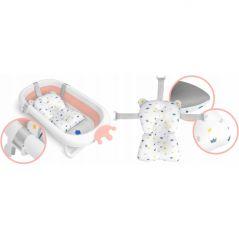 Cadita de baie cu dop de scurgere si pernita inclusa Ricokids RK-280 - Roz