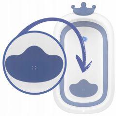 Cadita de baie cu dop de scurgere si pernita inclusa Ricokids RK-280 - Albastru